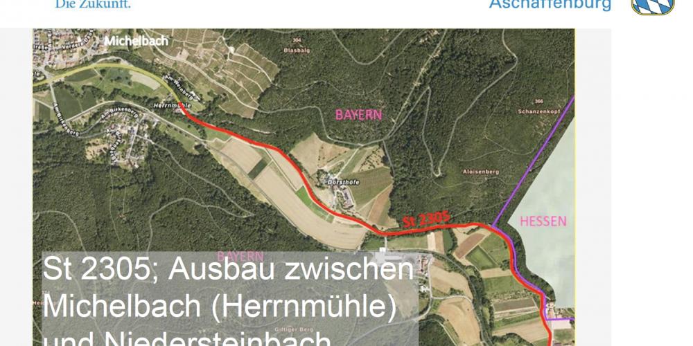 Stellungnahme zum geplanten Ausbau der ST 2305 zwischen Michelbach und Niedersteinbach