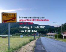 Einladung zur Informationsveranstaltung zum geplanten Straßenausbau der ST2305
